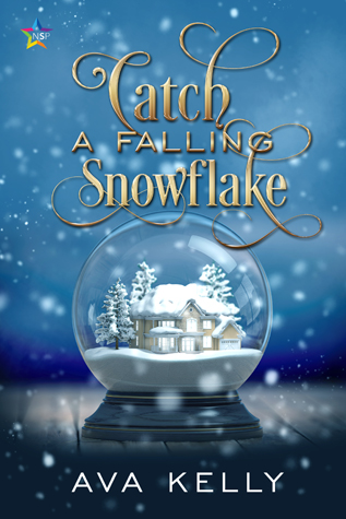 Catch a Falling Snowflake cover with a snow globe over blue blackground and slowflakes