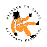 wizards in space logo with an orange astronaut