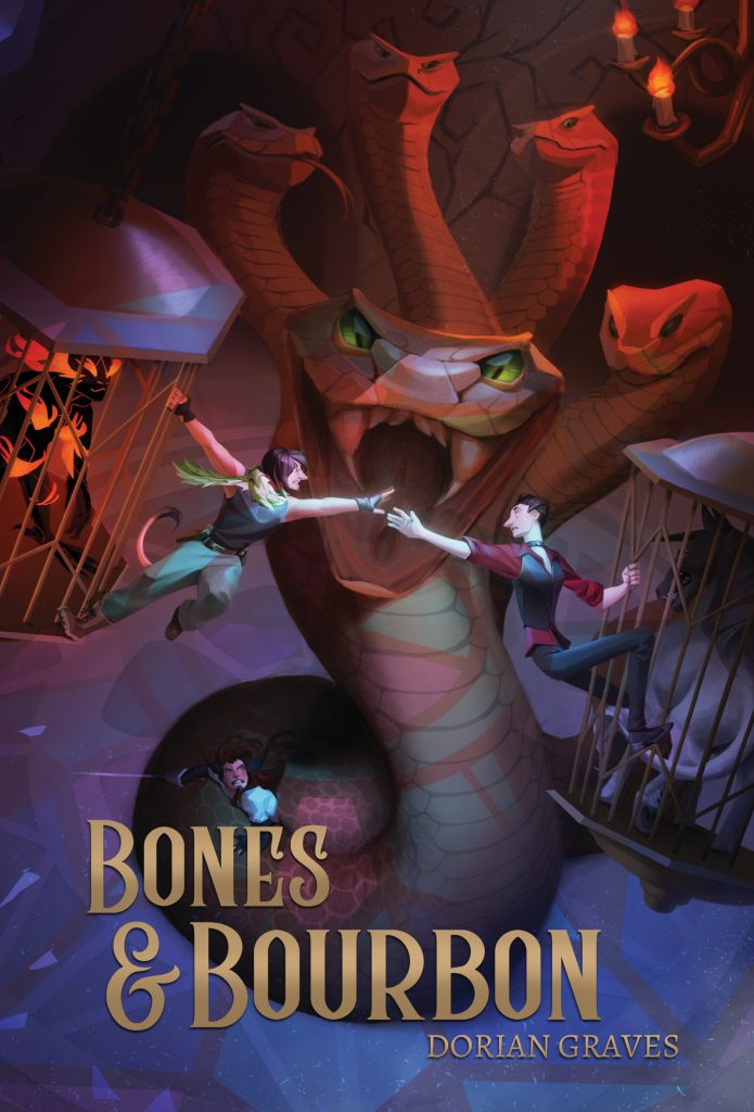 Book Cover: Bones and Bourbon by Dorian Graves