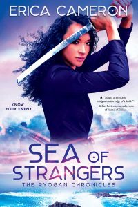 Sea Of Strangers cover with a woman yielding a sword