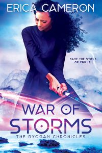 War Of Storms cover with a woman yielding a sword