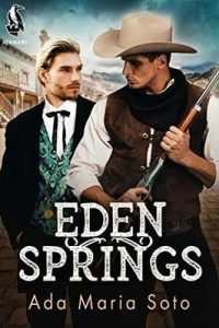 Two men in the old west. One with a fancy vest and black coat, the other rougher looking with a rifle